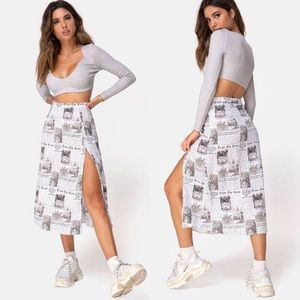 Dresses & Skirts - *PREORDER* Newsflash Newspaper Print Midi Skirt